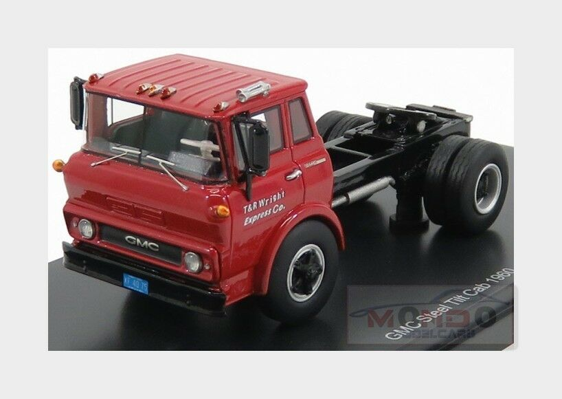 Gmc Steel Tilt Cab Tractor Truck 2-Assi 1960 Red Black NEOSCALE 1 64 NEO64075 Mo