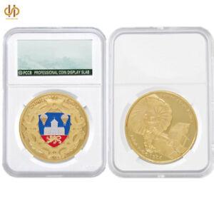 WW-II-Euro-France-Sainte-Mere-Eglise-Military-1-57-034-0-12-034-Challenge-Gold-Coin