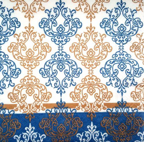 4 vintage table serviettes en papier pour découpage déjeuner Craft Morris Floral G17