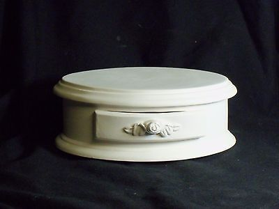 2 Egg boxes Ready to paint Ceramic Bisque Trinket box Oval Hand made