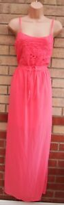 NEW-LOOK-PEACHY-PINK-FLORAL-EMBROIDERED-BELTED-SPLIT-LONG-MAXI-DRESS-12-M