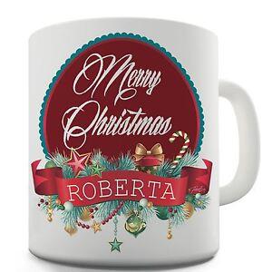 Twisted-Envy-Merry-Christmas-Wreath-Personalised-Ceramic-Novelty-Gift-Mug