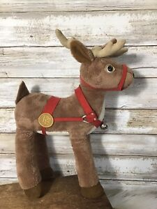 Hallmark-The-Polar-Express-14-034-Christmas-Reindeer-Plush-Stuffed-Animal-Hard-Find