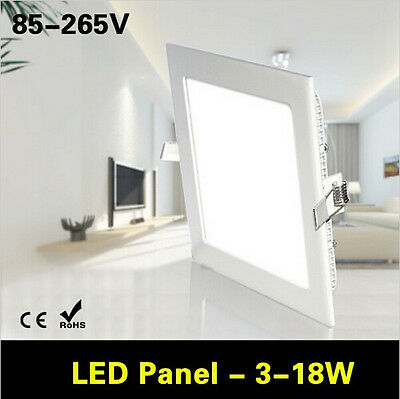 Square 3W-18W LED Panel light Recessed Kitchen Bathroom Downlight LED Ceiling