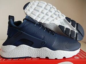 best service 654af db46e Image is loading WMNS-NIKE-AIR-HUARACHE-RUN-ULTRA-PREMIUM-BLUE-