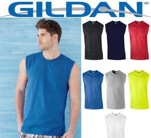 2XL 2700 ss Mens T-Shirt TANK Cotton Sleeveless Muscle Tee Shirt Plain  Size S