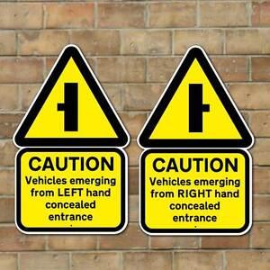 Concealed Entrance Sign Hidden Driveway Sign Slow Down