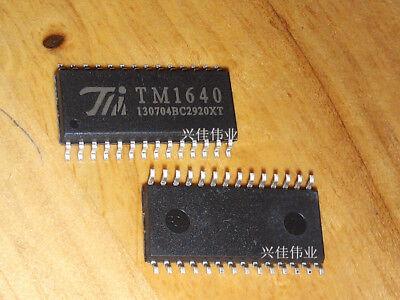 5Pcs SMD IC TM1640 LED Display Driver Original SOP-28