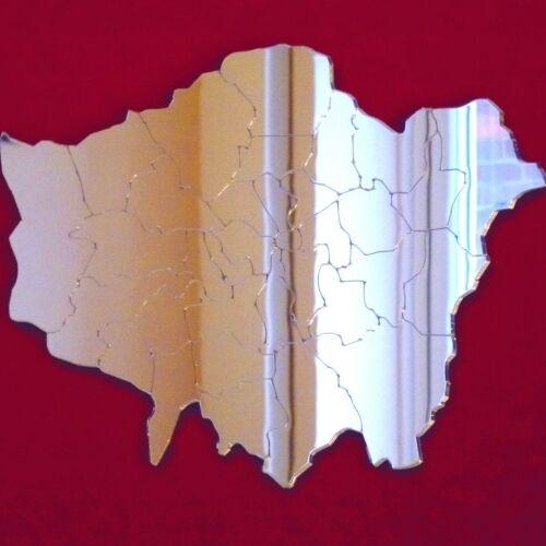 Gravé London Boroughs Acrylique Miroir Plusieurs Tailles Disponibles
