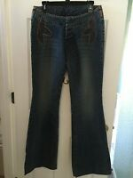 Parasuco Women's Flare Stretch Blue Jeans Size 30 (medium / Large) Retails $105