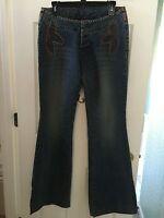 Parasuco Women's Flare Stretch Blue Jeans Size 30 (medium / Large) Retails $105