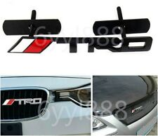 3D TRD Car front grill grille emblem badge For Toyota Corolla Yaris Camry Black