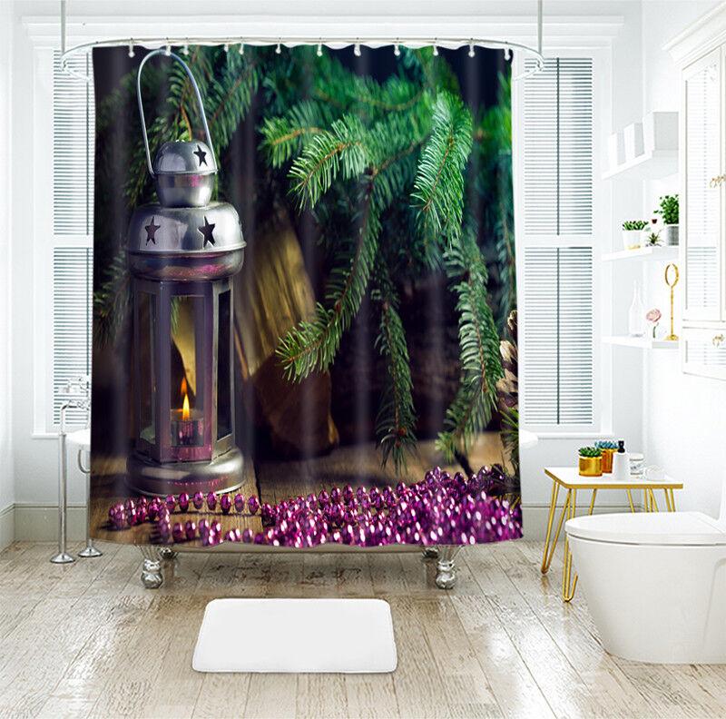 3D Weihnachten Xmas 56 Duschvorhang Wasserdicht Faser Bad Daheim Window Toilette