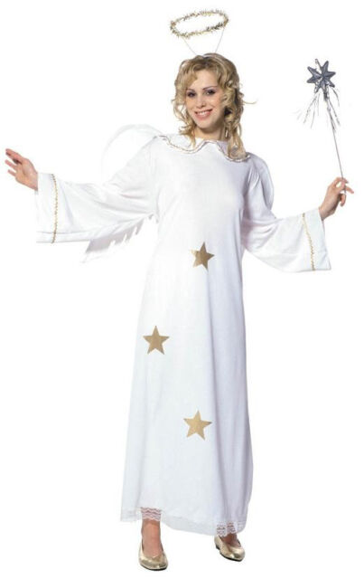 Sternenengel Engelskostüm für Damen NEU - Damen Karneval Fasching Verkleidung Ko