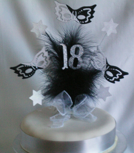 MASQUERADE MASK  CAKE TOP/TOPPER / ANY AGE /18th/21st/30th/40th/50th