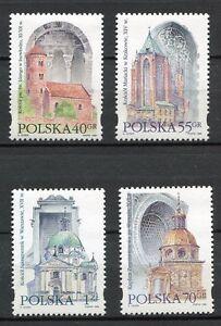 36032) Poland 1996 MNH Architecture 4v. Scott #3271/74