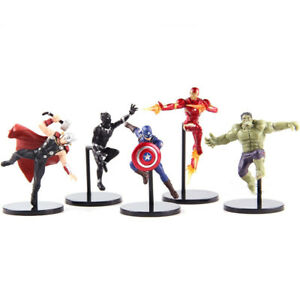 4 pcs//set Marvel Avengers Iron Man Captain America Thor Hulk PVC Statue Figure