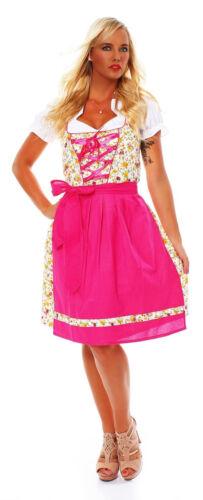 10589 Dirndl 3 tlg.Trachtenkleid Kleid Mini Bluse Schürze Trachten Oktoberfest