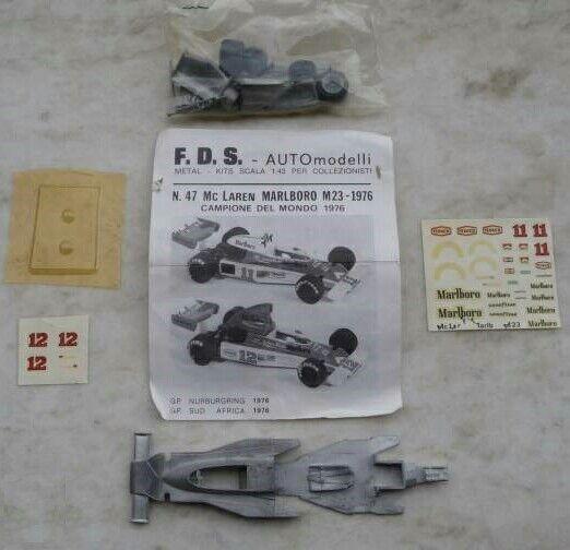 Très rare kit FDS (F.D.S.) à monter MCLAREN M23 1976 F1 FORMULE 1 au 1 43