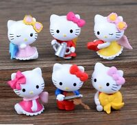 Hello Kitty Cake Topper Play Set 6 Pcs Toy Doll Set (fast Shipping Usa Seller)