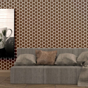 Honeycomb Pattern Wall Stencils Reusable Allover Stencil For