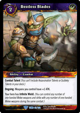 WOW WARCRAFT TCG TOMB OF THE FORGOTTEN : RESTLESS BLADES X 3
