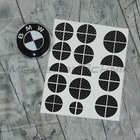 BMW Emblem Logo Aufkleber Ecken 1er 2er 3er 4er M3 X1 X3 X4 X5 schwarz carbon