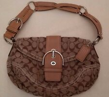 Coach -  Tan and Brown Leather and Canvas Hobo Purse (NWOT)