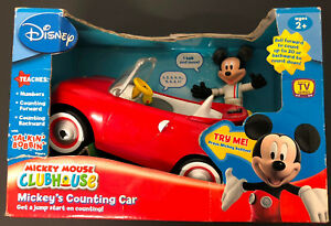 Disney-Mickey-Mouse-ClubHouse-Mickey-039-s-Counting-Car-Discontinued-Rare