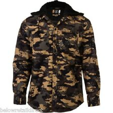 NEW VOLCOM CHAINSAW HOODED FLANNEL SHIRT RIDING JACKET MEN'S SMALL (S) MILITARY