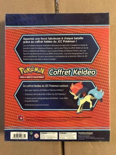 FRENCH Keldeo Gift Set Promo Boosters And Jumbo Card For Game TCG CCG