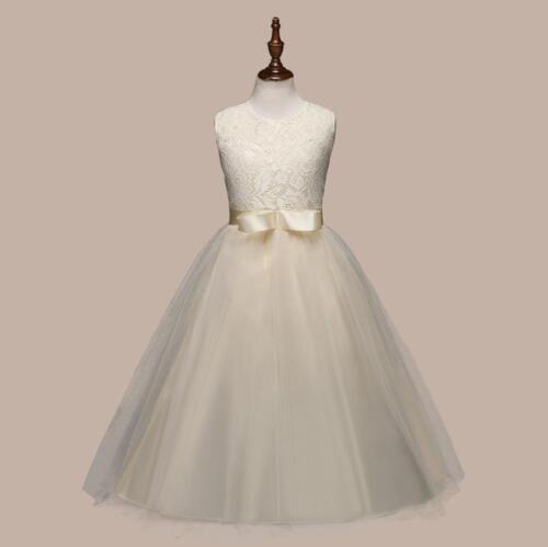 Flower Girl Dress Princess Formal Birthday Pageant Holiday Wedding Bridesmaid