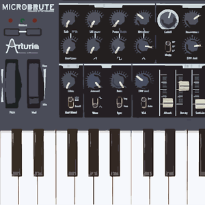 arturia microbrute analogue monophonic synthesizer sample pack ebay. Black Bedroom Furniture Sets. Home Design Ideas