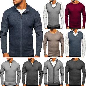 Sweater Pullover Strickjacke Strickpullover Herren