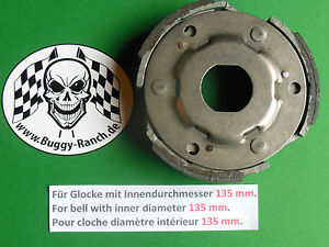 Kupplung-Linhai-260-300-Hytrack-265-Clutch-Embrayage-135mm-ATV