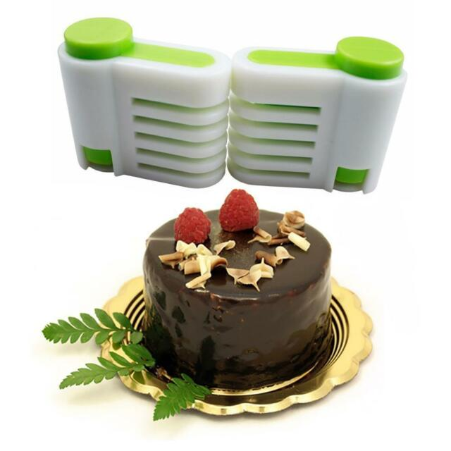 2pcs 5 Layers Kitchen DIY Cake Bread Leveler Cake Slicers Cutting Fixator