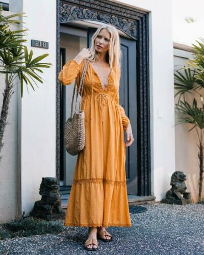 Chasing Unicorns Marigold Maxi Dress M  - image 1