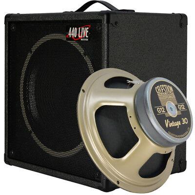 1x12 guitar speaker extension cabinet w 8 ohms celestion vintage 30 bk tolex ebay. Black Bedroom Furniture Sets. Home Design Ideas