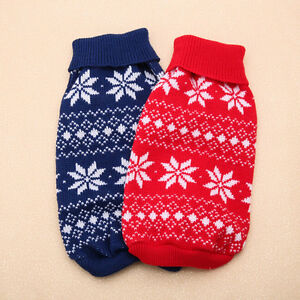 Pet-Dog-Christmas-Snowflake-Warm-Sweater-Puppy-Cat-Xmas-Winter-Knit-Coat-New