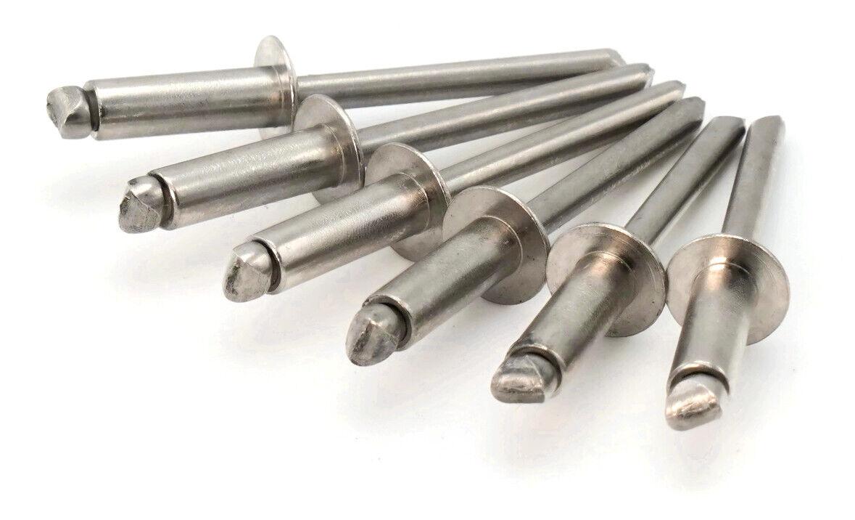 uxcell100pcs M6 x 25mm Aluminum Half Round Head Solid Rivet Fastener Silver Tone