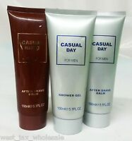 Casual Day By Parfums Rivera Shower Gel After Shave For Men French Brand Lot 3