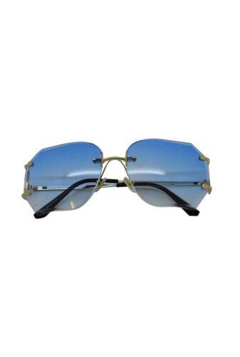 9bc5a56f824fa gold green Sized Rimless blue Square Women Ladies gold black Case sunglasses  Over Sunglasses Trendy Retro ...