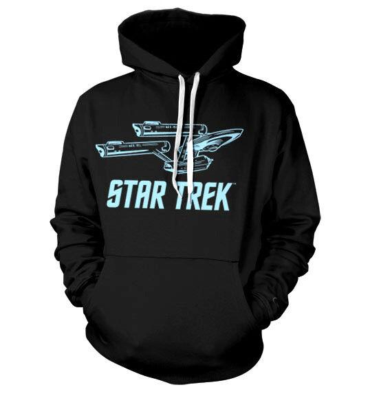 STAR STAR STAR TREK Enterprise  hooded sweat-shirt cotton officially licensed 1e69ef