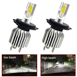 2Pcs-9003-H4-LED-Headlights-Bulbs-Kit-Upgrade-High-amp-Low-Beam-White-Waterproof