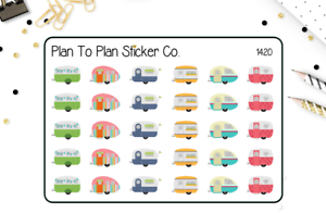 1420~~Camping//Glamping Road Trip Planner Stickers.