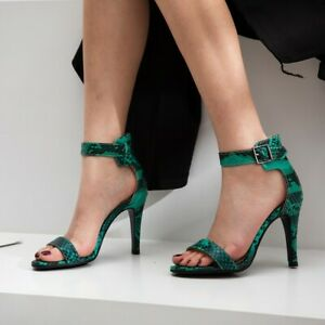 Womens-Snake-Pattern-Open-Toe-Sandals-Ankle-Strap-High-Heels-Buckle-Casual-Shoes