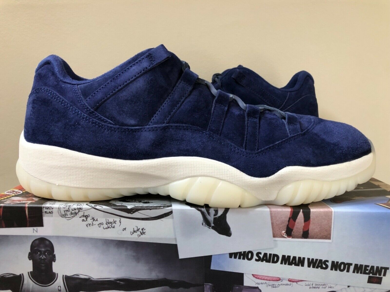 Air Jordan Retro 11 XI Low JETER RE2PECT Navy 8-14 AV2187-441 100% Authentic