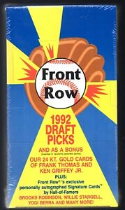 1 SEALED 1992 FRONT ROW DRAFT PICKS HOBBY MLB  BOX 36  PACK   JETER ROOKIE CARDS