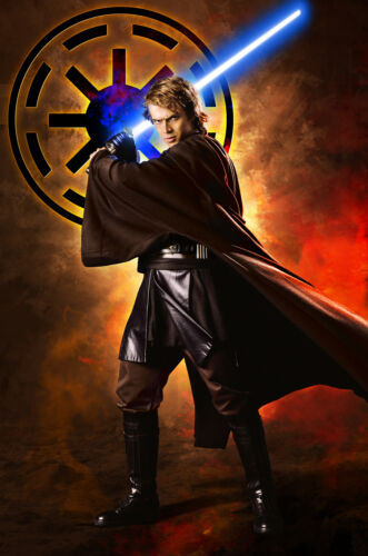 Star Wars Anakin Skywalker Original Art Print by artist Scott Harben