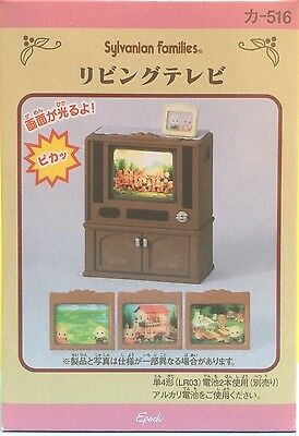 Sylvanian families Living Room TV Television Set Japanese version genuine Epoch